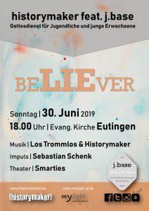 historymaker feat. j.base | Gottesdienst für Jugendliche und junge Erwachsene @ Evang. Kirche Eutingen